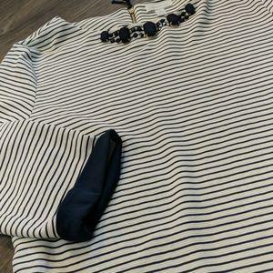 Charter Club Navy And Cream Shirt
